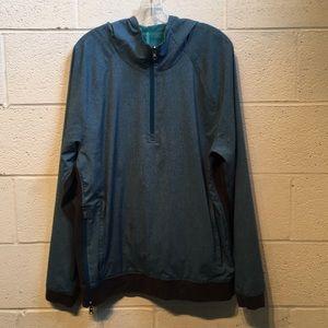 Lululemon blue mens half zip hoodie size XL 57729